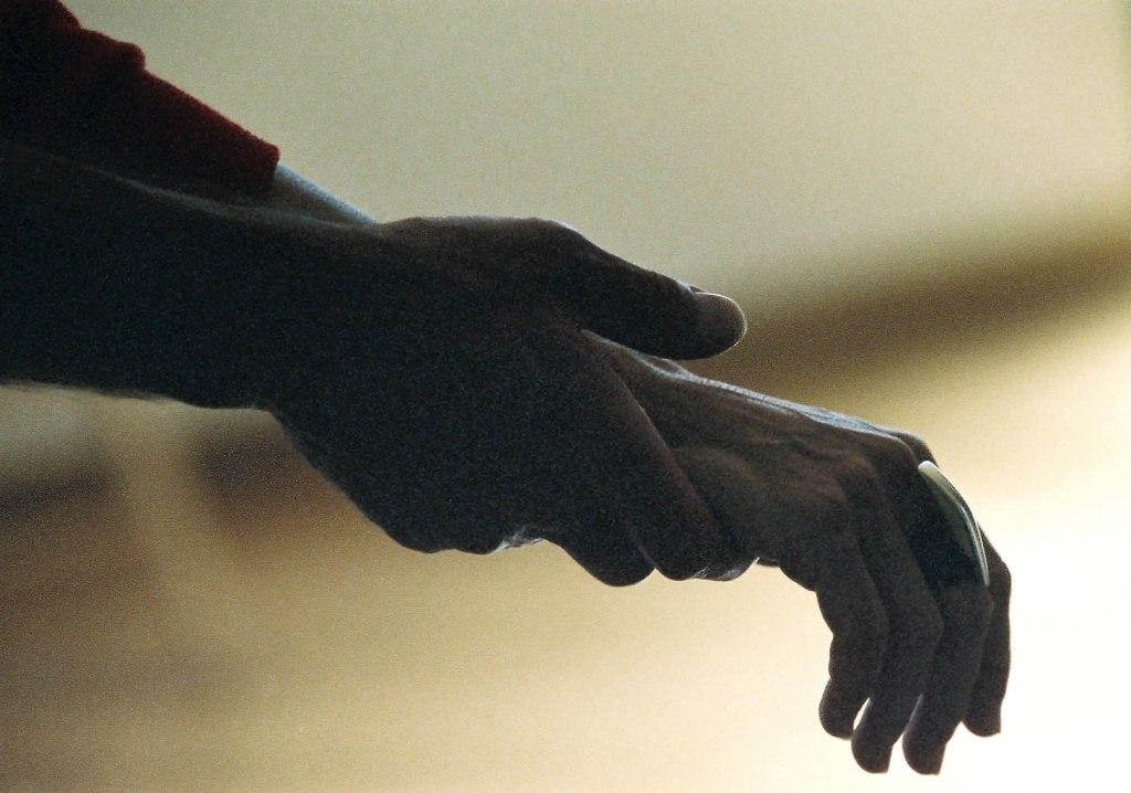 bruce's hand